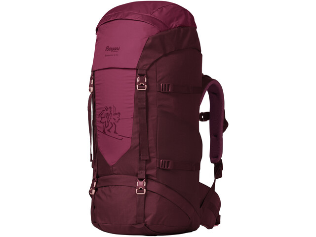 Bergans Birkebeiner 40 Backpack Youth zinfandel red/beet red